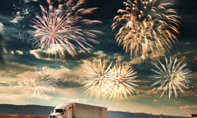 Neujahrswünsche für LKW-Fahrer